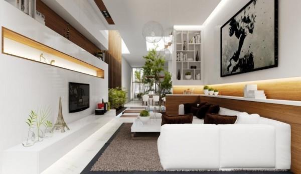 Intérieur salon moderne canapé