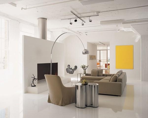 appartement minimaliste contraste jaune