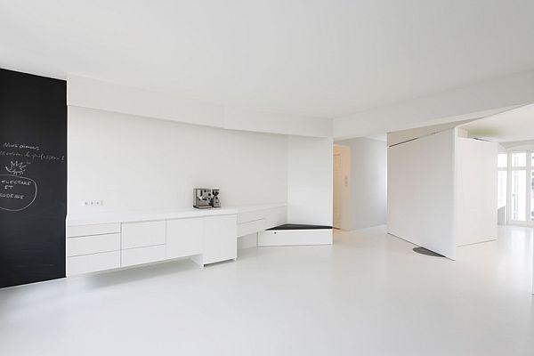 appartement minimaliste theme blanc