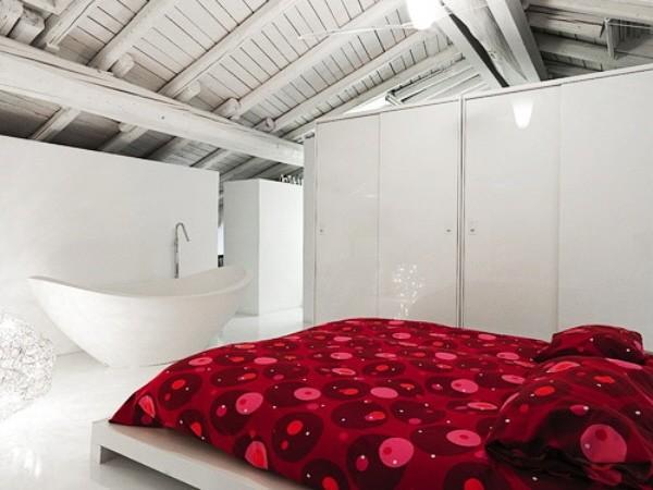 baignoire loft minimaliste chambre stanco