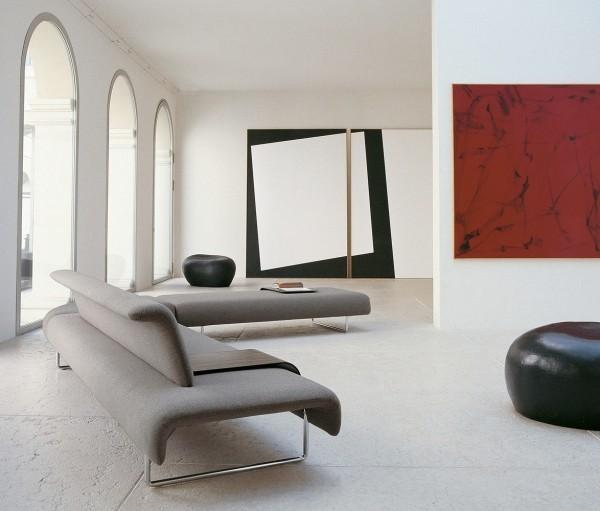 canapé tissu pieds métal design moderne