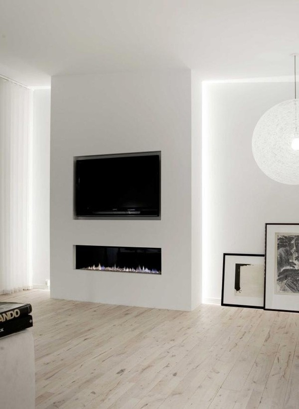 cheminee minimaliste appartement norm architects
