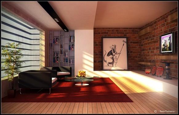 décoration de salon moderne design