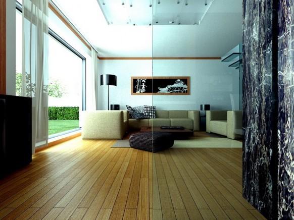 décoration de salon moderne lumineux