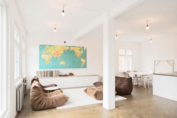 décoration épurée salon contemporain convivial