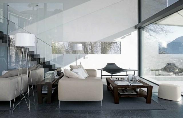 idées déco salon luxe blanc