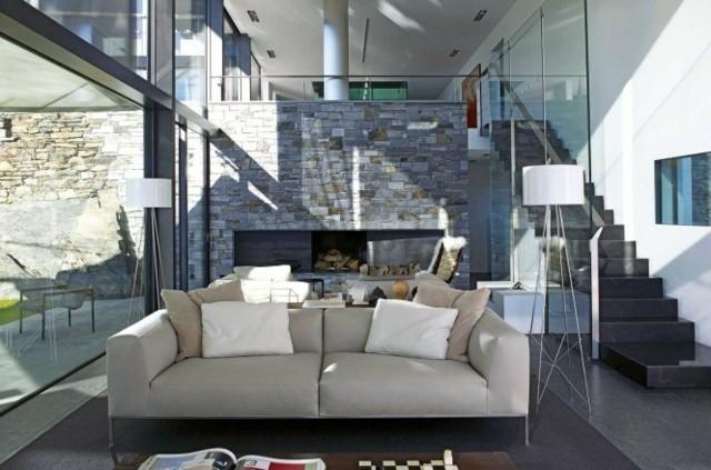idées déco salon luxe canapé