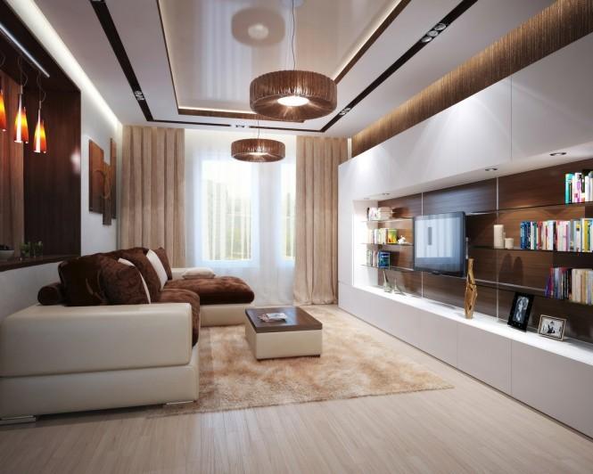 intérieur maison salon marron sofa