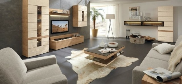 meuble bois canapé fauteuil gris salon