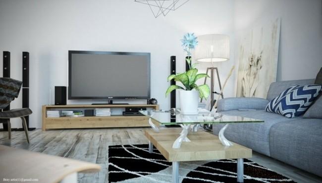 meubles bois salon moderne design