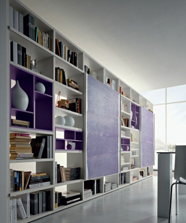 meubles de salon design violet