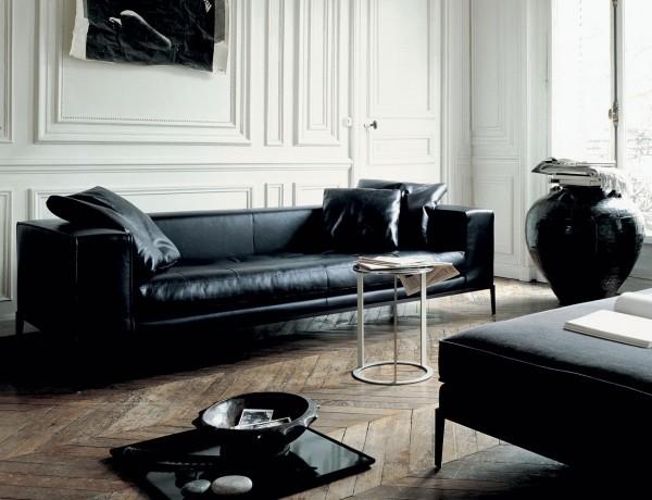 mobilier de design canapé noir luxueux