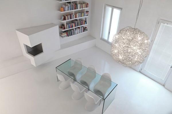 salle a manger minimaliste romolo stanco loft