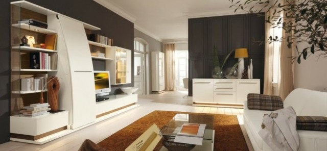 salon blanc meubles design moderne