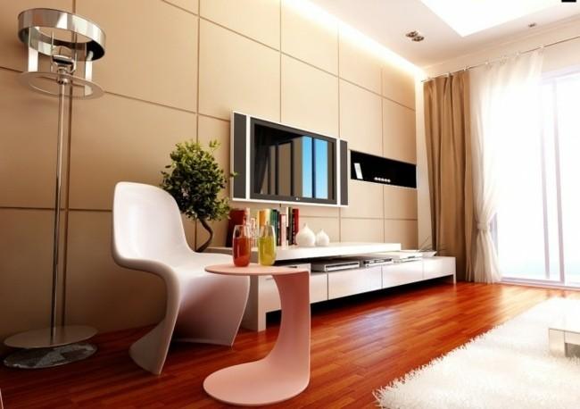 salon convivial contemporain parquet bois