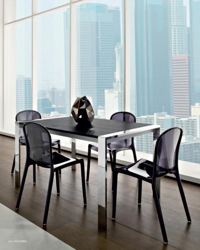 table bois noire salon