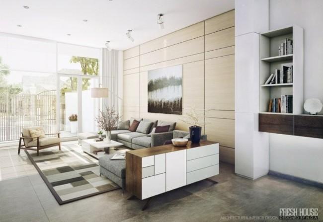 tapis graphique design moderne salon
