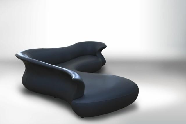 canapé convertible noir corner bed amphora