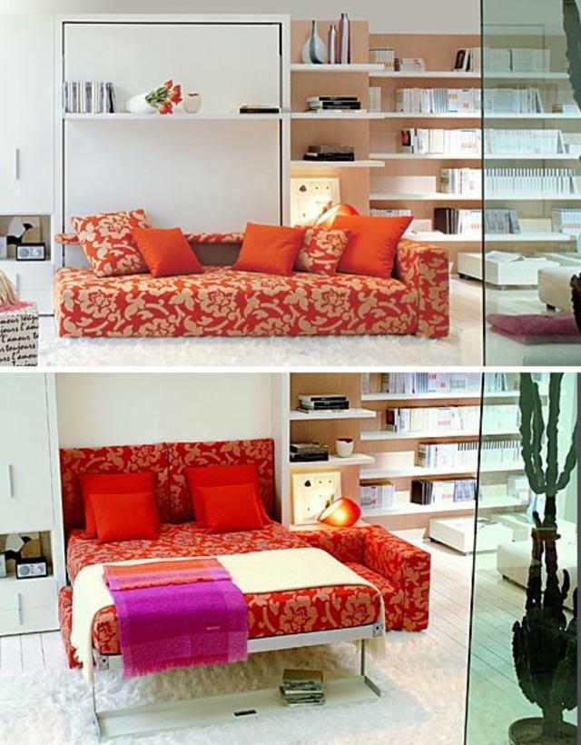 canapé moderne multifonctionnel orange