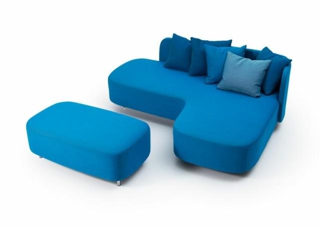 canapé design bleu moderne Koivisto