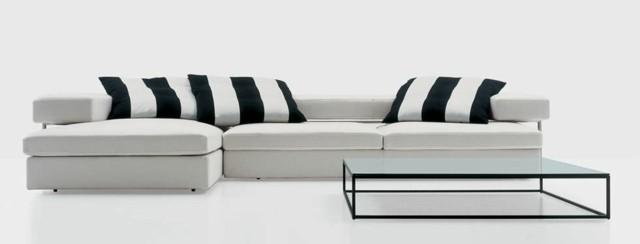 canapé moderne noir blanc Nube