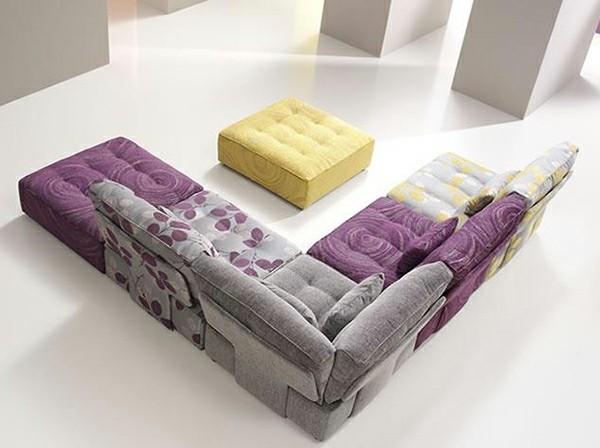 canapé angulaire modulable salon moderne