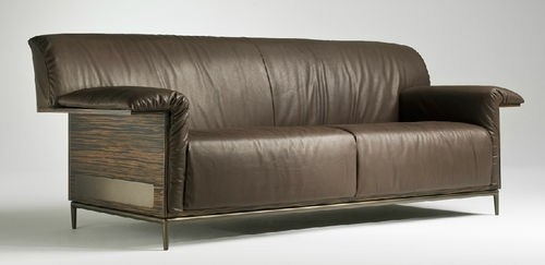canapé cuir marron design contemporain