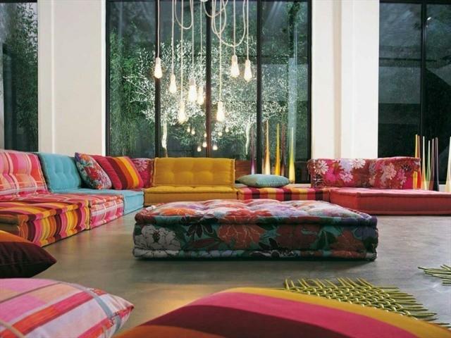 canapé d'angle couleurs moderne