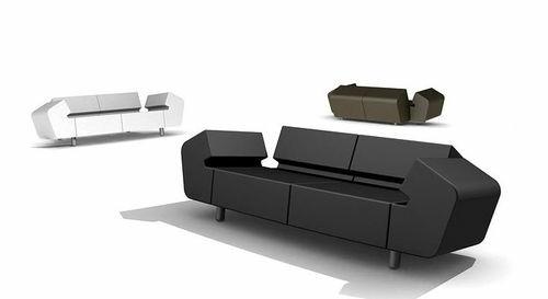 canapé design original noir blanc angulaire
