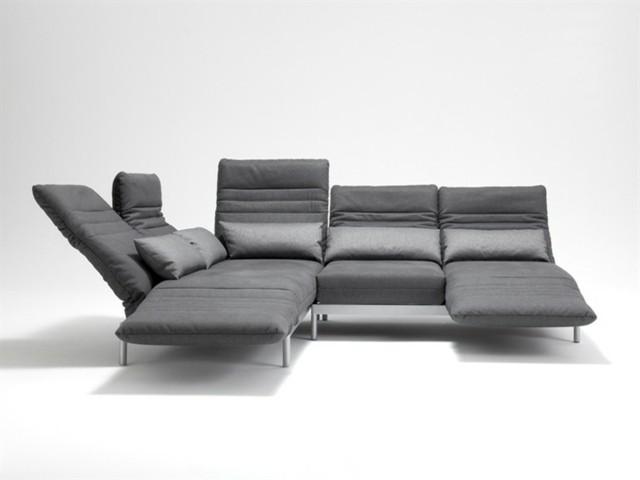 canapé élégant gris angulaire contemporain