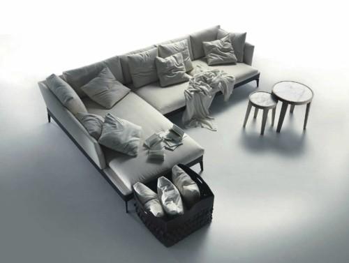 canapé moderne modulable gris design