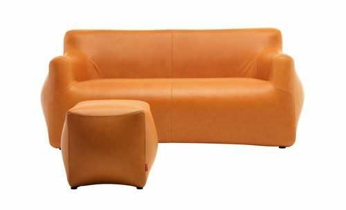 canapé orange design contemporain confort