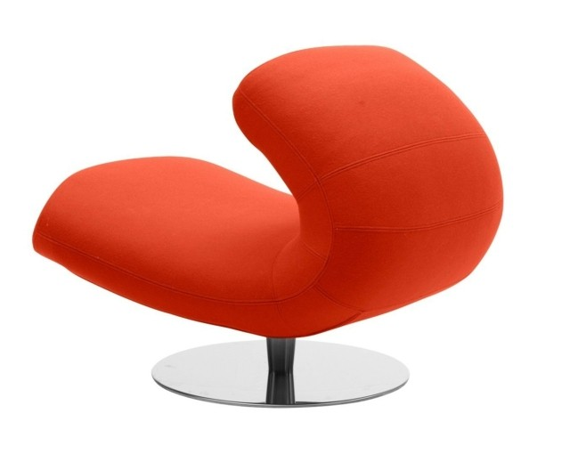 chaise salon rouge moderne