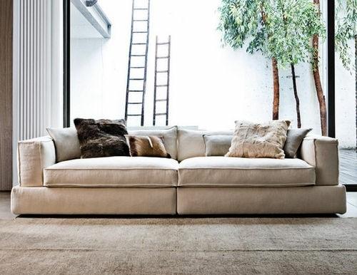 canapé contemporain confortable écru