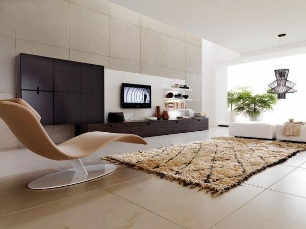 déco salon accent meuble mural TV