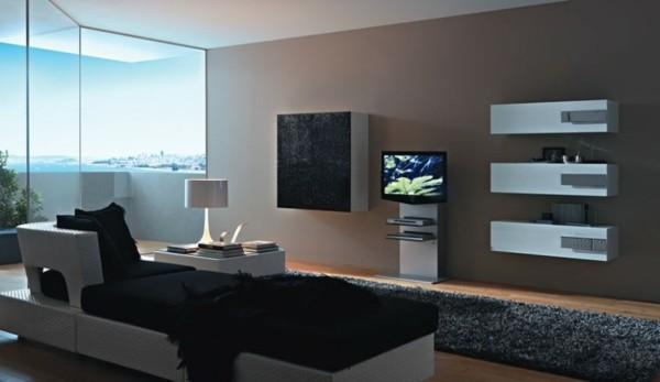 déco salon meuble mural TV