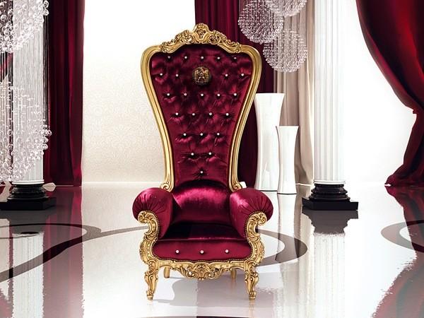 fauteuil de salon couleur pourpre