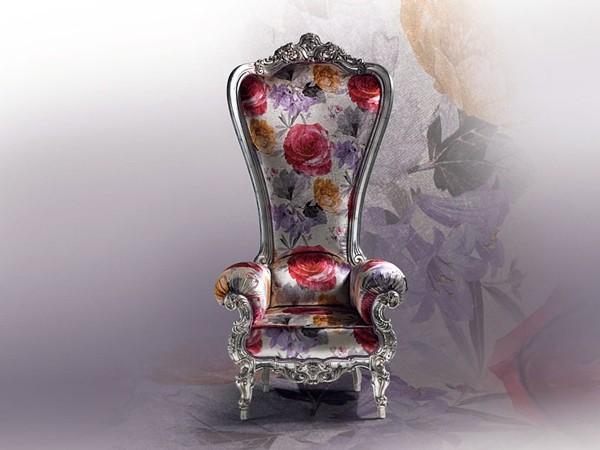 fauteuil de salon dessin fleurs