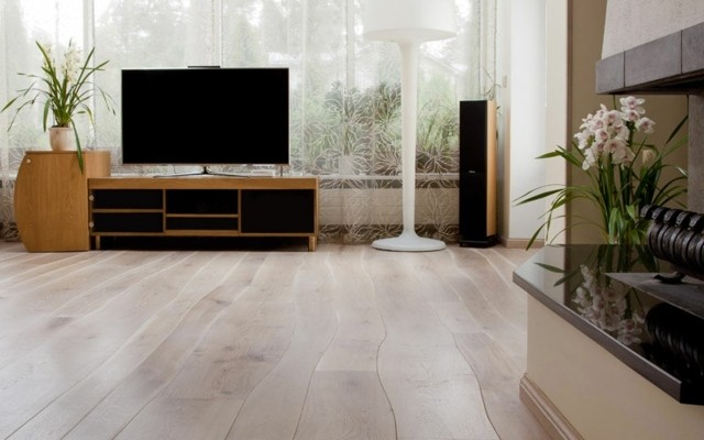 Plancher en bois intériuer moderne