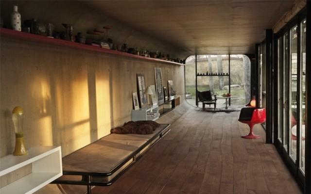 intériuer rustique plancher bois