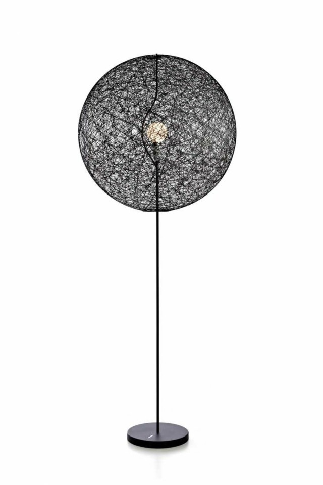lampadaire design noir pot