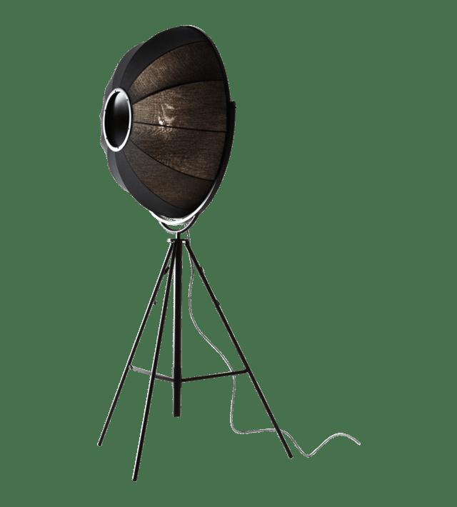 lampadaire moderne noir fortuny