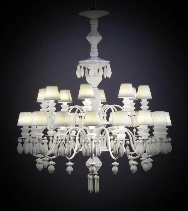 lustre contemporain blanc Lldaro