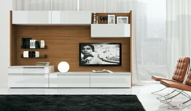 meuble de télé blanc bois