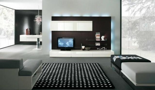 meuble moderne télé mur appartement