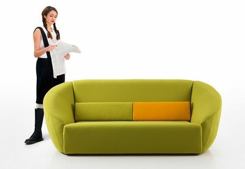 meuble salon assoir vert vif
