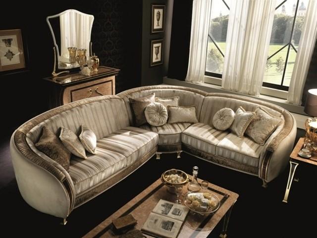 meuble salon canapé d'angle luxe