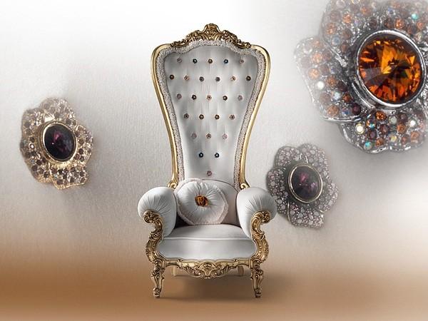 meuble salon fauteuil blanc design
