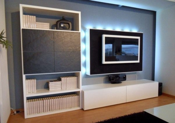 meuble tété design lumières