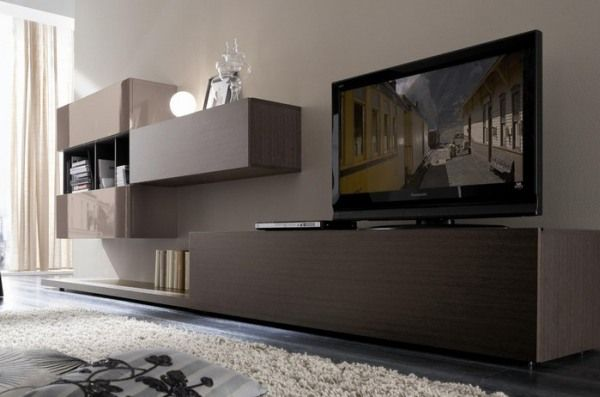 meuble télé design salon bois